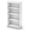 Axess White Bookcase with 4 Open Shelves