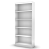 Axess White Bookcase with 5 Open Shelves