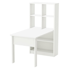 Annexe Work Table and Storage Unit Combo - Pure White