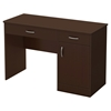 Axess Small Desk - 2 Drawers, 1 Door, Chocolate