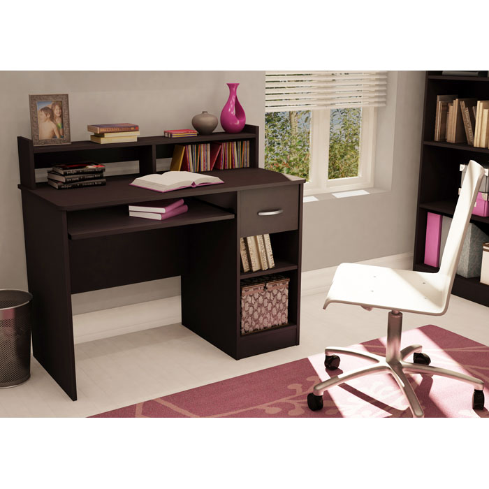 Axess Small Desk in Chocolate Brown - SS-7259076