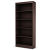 Axess Brown Bookcase / Display Unit with 5 Shelves