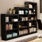 Axess Contemporary 3-Shelf Bookcase in Black - SS-7270766