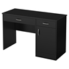 Axess Small Desk - 2 Drawers, 1 Door, Pure Black