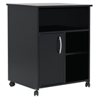 City Life Black Filing Cabinet on Casters