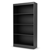 Axess Contemporary 4-Shelf Bookcase in Black