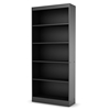 Axess Contemporary 5-Shelf Bookcase in Black