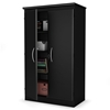 Morgan Black Storage Cabinet with Double-Lock