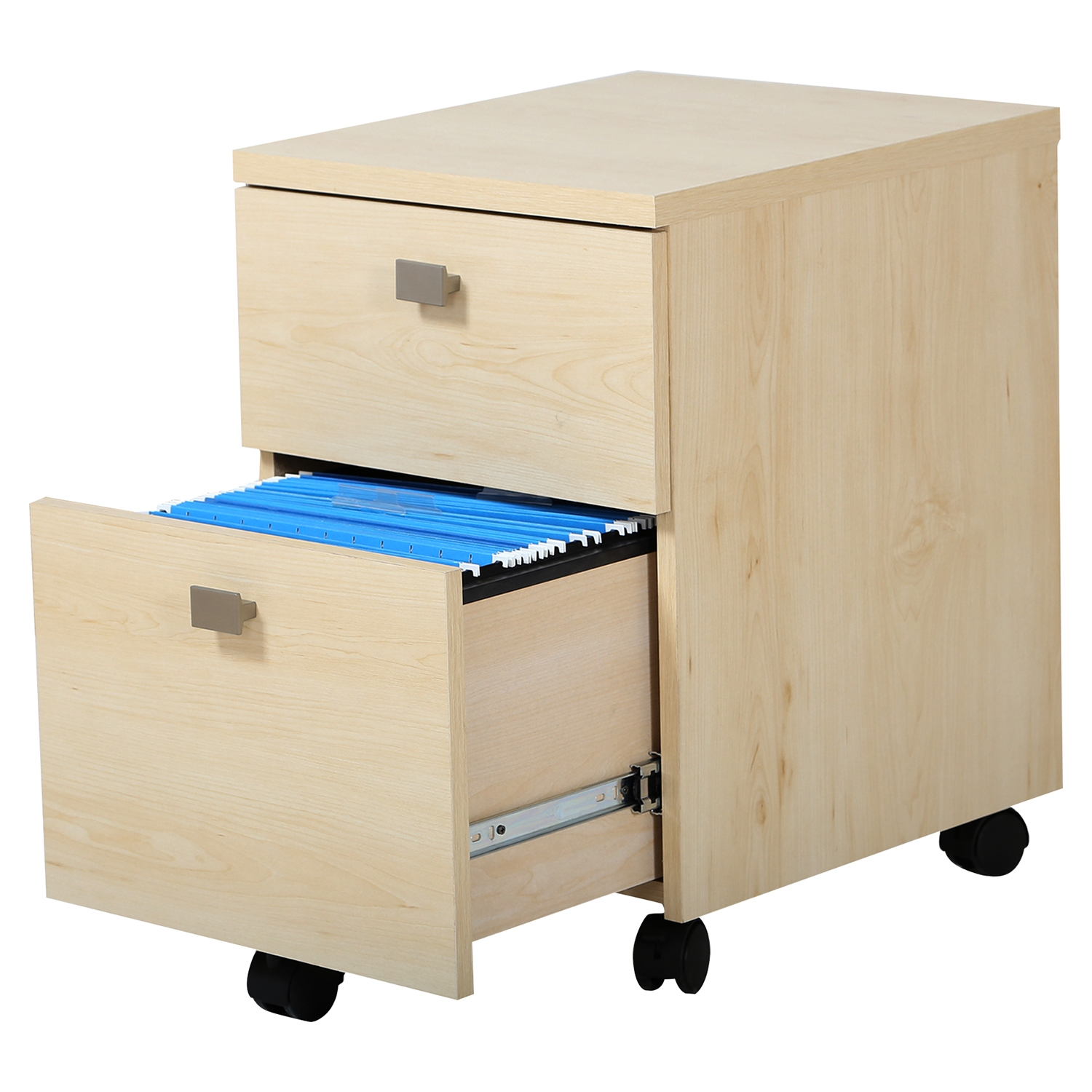Interface Mobile File Cabinet - 2 Drawers, Natural Maple - SS-7324691