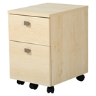 Interface Mobile File Cabinet - 2 Drawers, Natural Maple