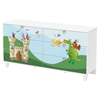 Andy Double Dresser with Dragon and Castle Decals - Pure White, 6 Drawers