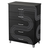Luka 5 Drawers Chest - Race Track Decals, Black Onyx and Charcoal