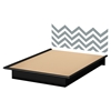 Step One Queen Platform Bed - Gray Chevron Decal, Pure Black