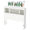 Andy Twin Bookcase Headboard with Soldiers Wall Decals Set - Pure White - SS-8050118K