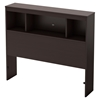 Karma Twin Bookcase Headboard - Chocolate