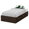 Karma Twin Mates Bed - 3 Drawers, Chocolate