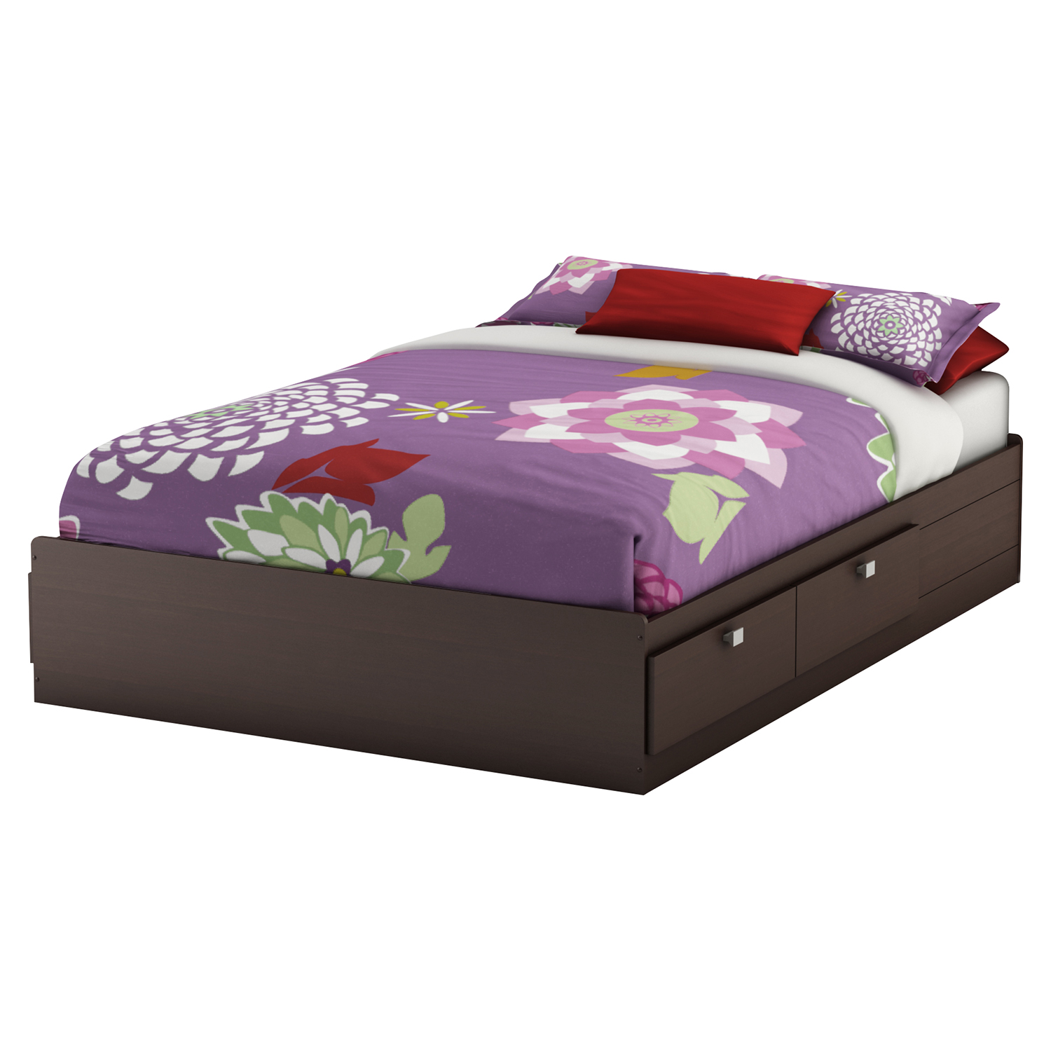 Karma Full Mates Bed - 4 Drawers, Chocolate