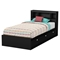 Karma Twin Mates Bed - 3 Drawers, Pure Black - SS-9001C1