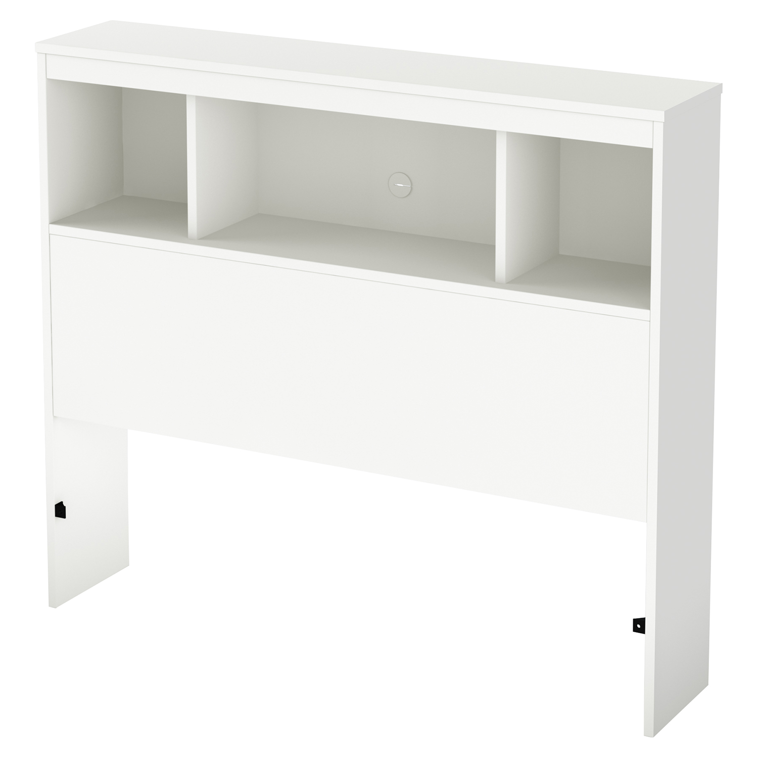 Karma Twin Bookcase Headboard - Pure White