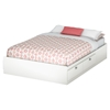 Karma Full Mates Bed - 4 Drawers, Pure White
