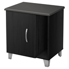 Lazer Nightstand - Storage, Black Onyx