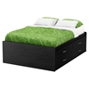 Lazer Full Captain Bed - 4 Drawers, Black Onyx