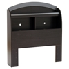 Lazer Twin Bookcase Headboard - Black Onyx