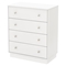 Litchi 4 Drawers Chest - Pure White - SS-9011034