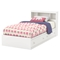 Litchi Twin Mates Bed - 2 Drawers, Pure White - SS-9011213
