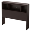 Litchi Twin Bookcase Headboard - Chocolate