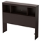 Litchi Twin Bookcase Headboard - Chocolate - SS-9012A1