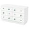 Little Monsters 6 Drawers Double Dresser - Pure White - SS-9017027