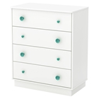 Little Monsters 4 Drawers Chest - Pure White