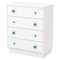 Little Monsters 4 Drawers Chest - Pure White - SS-9017034