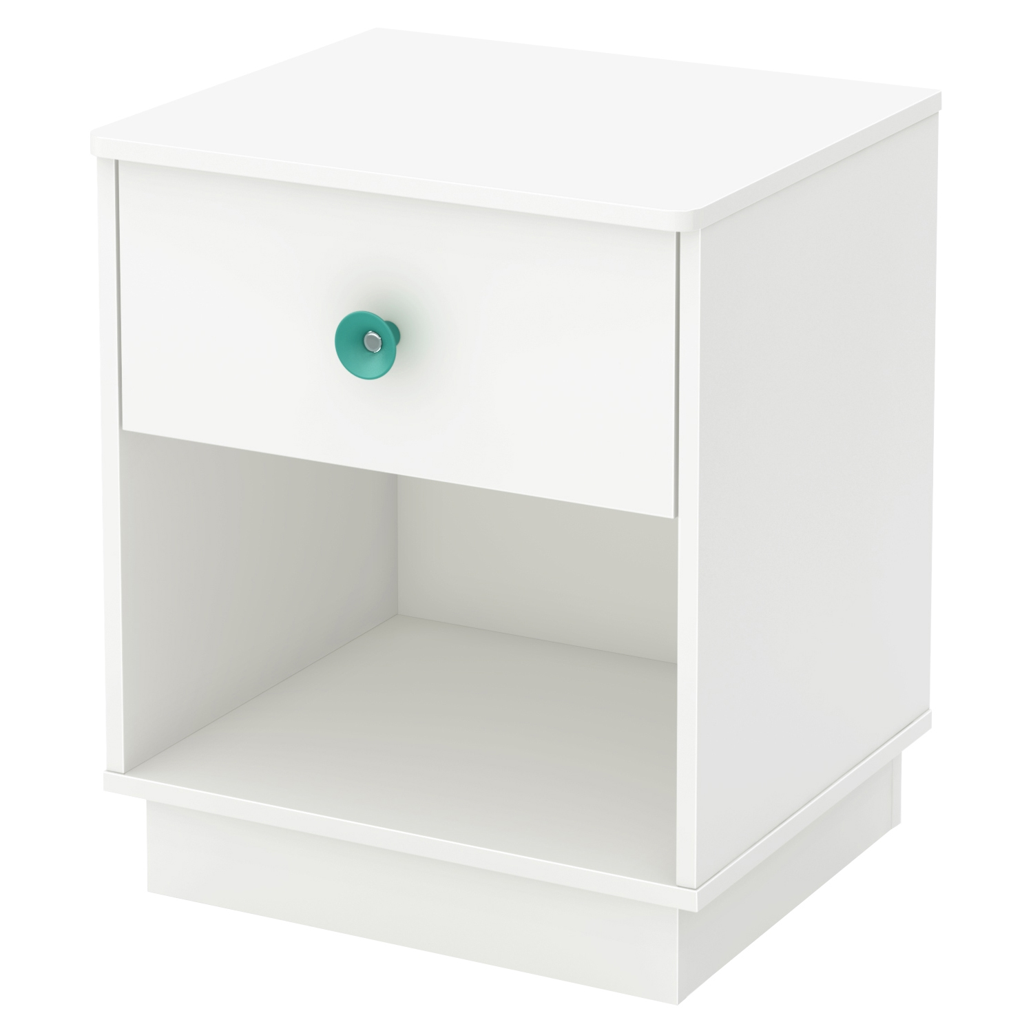 Little Monsters 1 Drawer Nightstand - Pure White