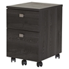 Interface Mobile File Cabinet - 2 Drawers, Gray Oak