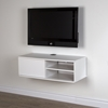 "Agora 38"" Wide Wall Mounted Media Console - Pure White"