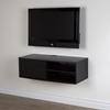 "Agora 38"" Wide Wall Mounted Media Console - Black Oak"