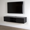 "Agora 56"" Wide Wall Mounted Media Console - Black Oak"