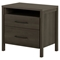 Gravity Nightstand - 2 Drawers, Gray Maple - SS-9036060