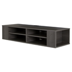 City Life Wall Mounted Media Console - Gray Maple