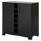 Vietti Bar Cabinet - Bottle and Glass Storage, Black Oak - SS-9043770