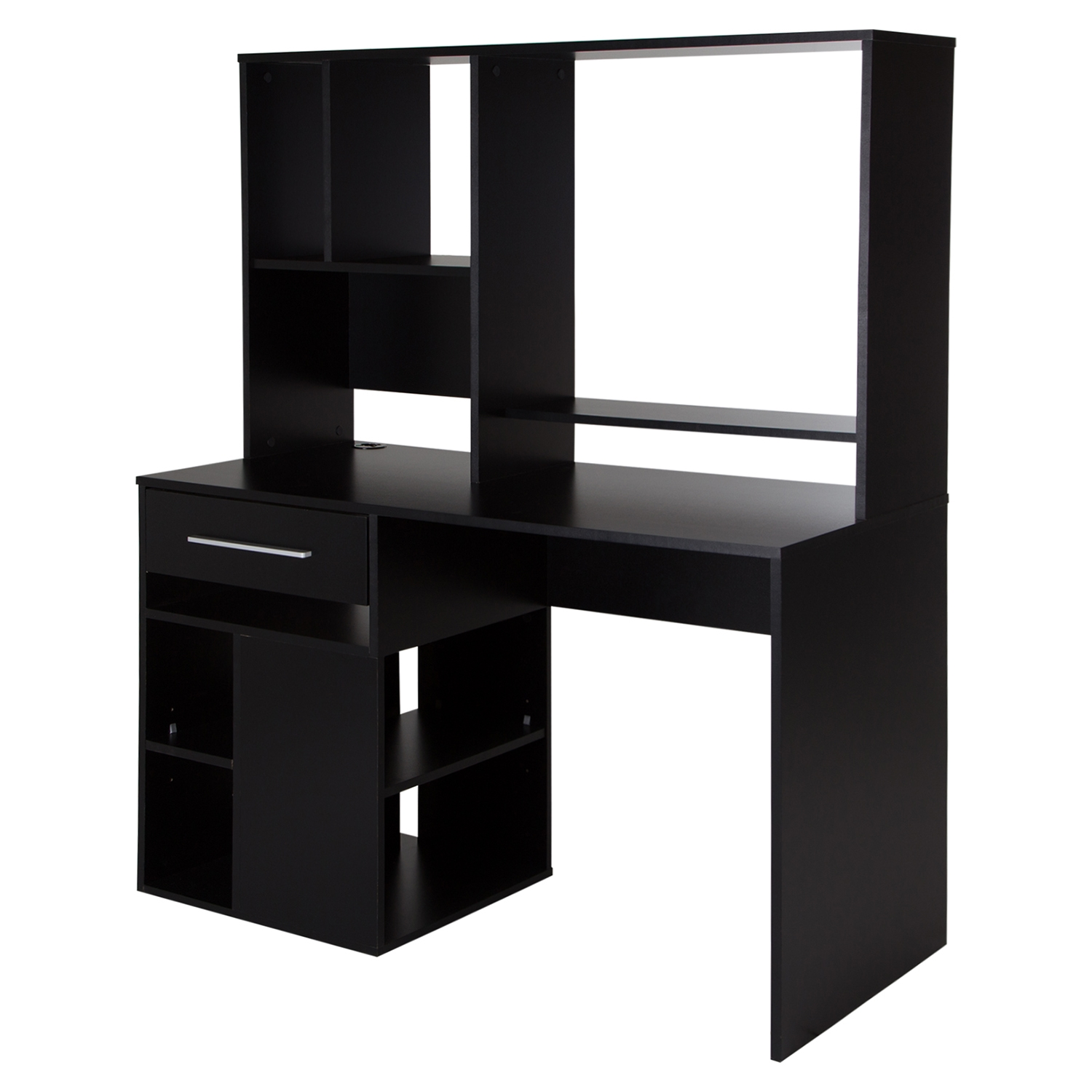 Annexe Home Office Computer Desk - Pure Black