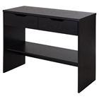 Flexible Console Table - 2 Drawers, Black Oak