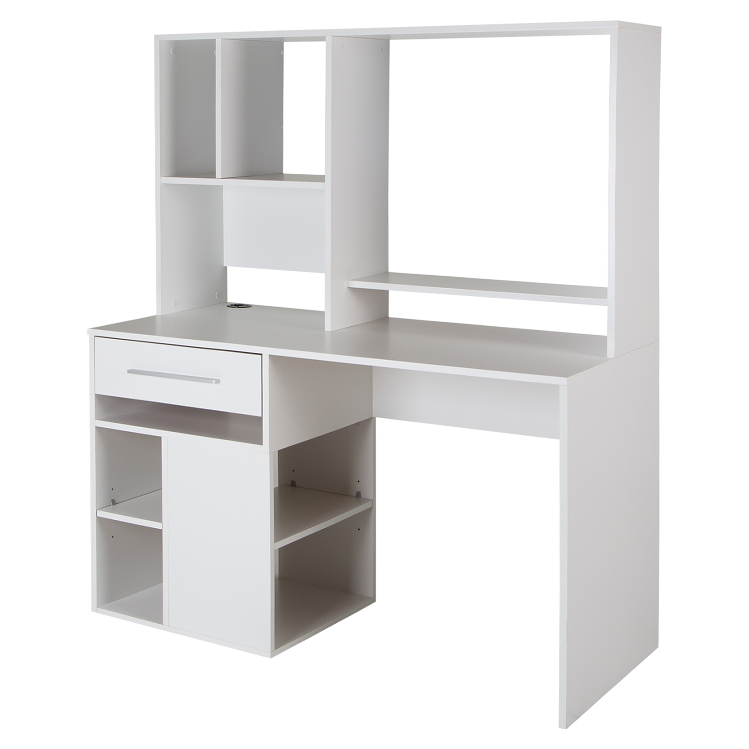 Annexe Home Office Computer Desk - Pure White
