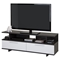 Reflekt TV Stand - 2 Drawers, Gray Oak and Pure White - SS-9058677
