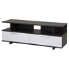 Reflekt TV Stand - 2 Drawers, Gray Oak and Pure White