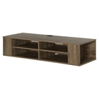 "City Life 48"" Wall Mounted Media Console - Weathered Oak"