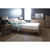 Fusion Queen Bedroom Set - Rustic Oak