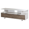 Reflekt TV Stand - 2 Drawers, Weathered Oak and Pure White